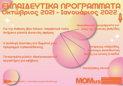 Εκπαιδευτικά προγράμματα στο πλαίσιο της έκθεσης του Ιβάν Κλιούν στο MOMusModern