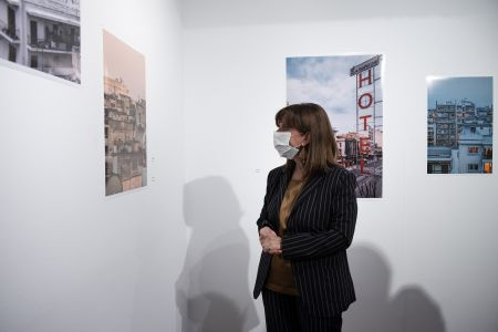 Στιγμιότυπα από τις επισκέψεις της Προέδρου της Δημοκρατίας κ.Κατερίνας Σακελλαροπούλου στις εκθέσεις στο MOMus-Μουσείο Φωτογραφίας Θεσσαλονίκης και MOMus-Πειραματικό Κέντρο Τεχνών. Φωτ. Αλέξανδρος Αβραμίδης