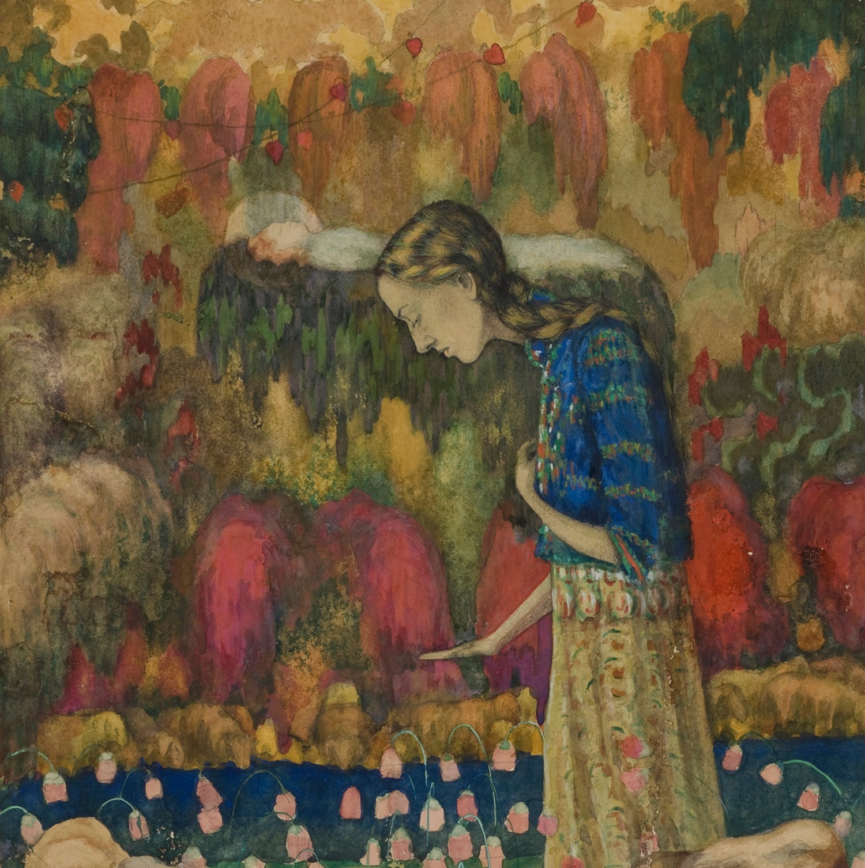 Ίβάν Κλιούν, Πορτρέτο της γυναίκας του καλλιτέχνη, 1910, © MOMus-Μουσείο Μοντέρνας Τέχνης-Συλλογή Κωστάκη