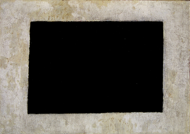 Kazimir Malevich, Black Quadrilateral, painting, 24 x 17 cm, MOMus-Museum of Modern Art-Costakis Collection